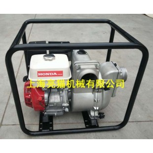 亮猫本田发动机GX390四寸泥桨泵技术参数: 型号:LMWT40 水泵: 进水口径:100mm(4寸)  出水口径:100mm(4寸)  标定流量:2200L/min 最大流量:2400L/min 标