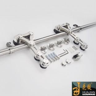 加工定制安装简易移门滑轮配件不锈钢玻璃门滑轮