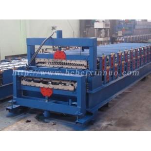 辽宁双层彩钢琉璃瓦机现货供货/鑫诺压瓦机械品质三包信誉可靠