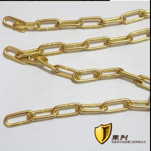 防爆链条工业用纯黄铜倒链3mm直径隔离带黄铜链条可定制其它尺寸3