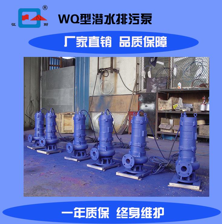 上海厂家供应WQ型固定移动式潜水排污泵 杂质泵全年质保