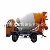 四轮多功能混凝土搅拌车 1.5方小型水泥搅拌运输罐车