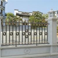 新中式围墙铸铝护栏 艺术栏杆 欧式铝艺护栏 铸铝栏杆