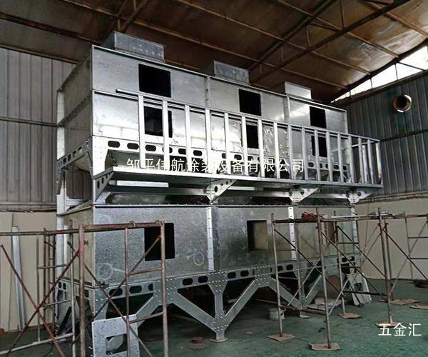 长春环保吸附催化燃烧设备汽车烤漆房干式喷涂柜设备伟航制造