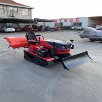 大棚履带式多功能旋耕机 丘陵地带耕地机