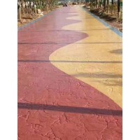 北京丰台区印花地坪压模地坪材料 造价低易施工